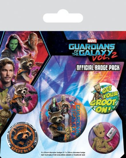 Guardians of the Galaxy Vol. 2 Rocket and Groot Badge Pack